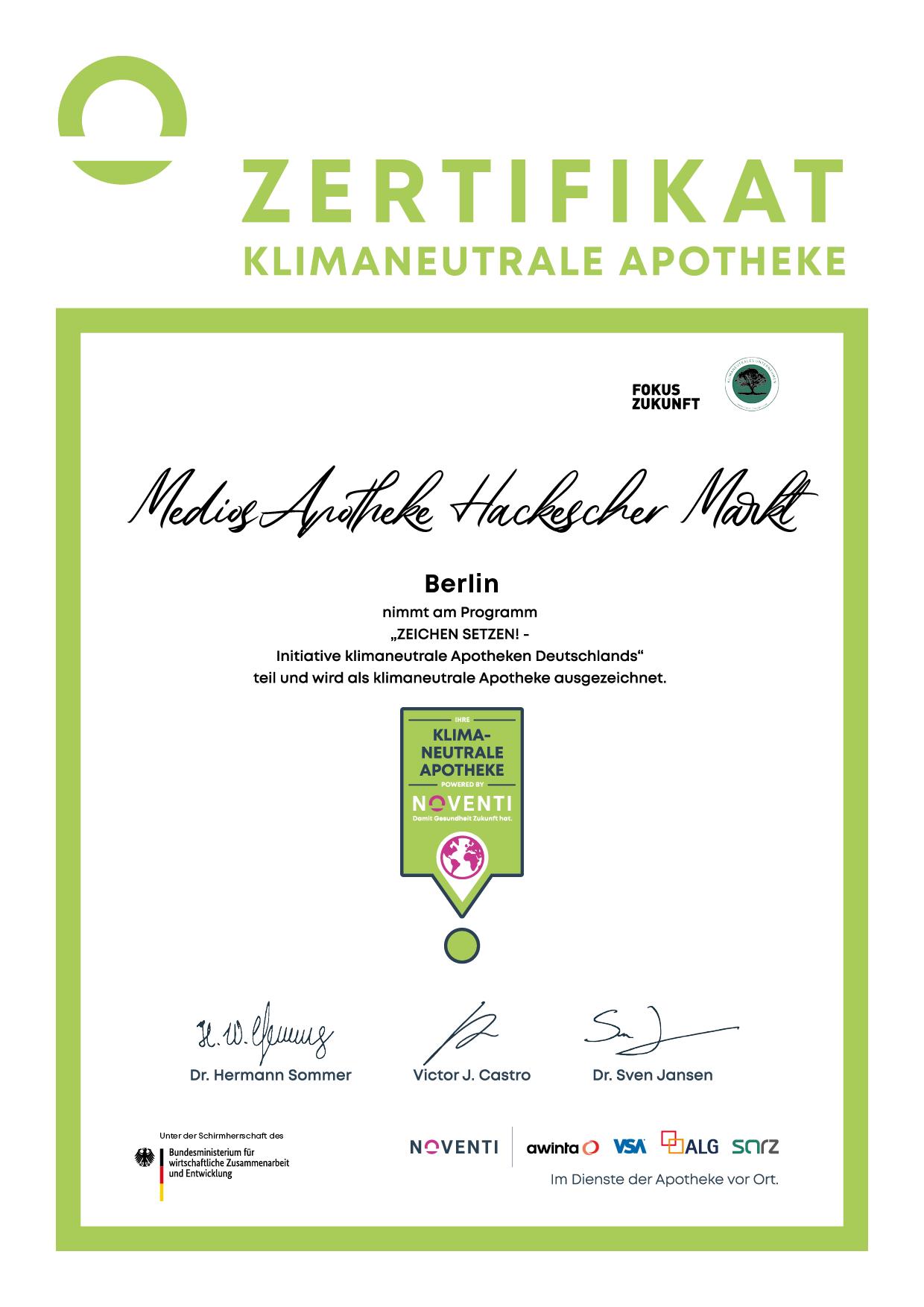 MediosApotheke Noventi Auszeichnung